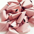 50 Large Dusky Rose Pink Origami Heart Love Messages