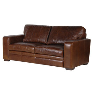 Churchill Vintage Leather Two Or Three Seater Sofa - sofas