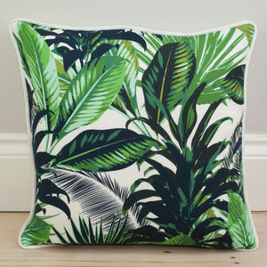 Tropical Palm Print Cushion - cushions