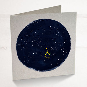 Cancer Horoscope Astrology Star Sign Birthday Card