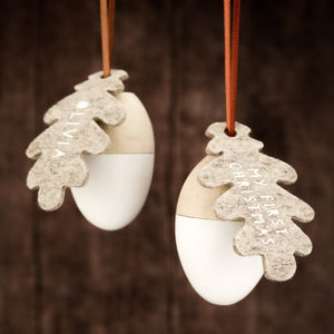 Baby's First Christmas Personalised Acorn Decoration - baby's first christmas