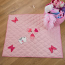 Pink Butterfly And Cupcake Children's Floor Quilt