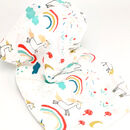 Unicorn And Rainbow Print Baby Muslin Cotton Blanket