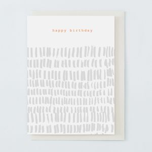 'Happy Birthday' Grey - birthday cards