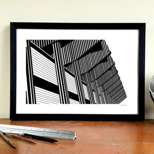 'Let's Get Brutal' Minimalist Newcastle United Print - posters & prints