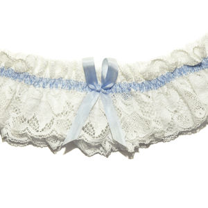 Ariane Vintage Ivory Lace Wedding Garter - lingerie accessories