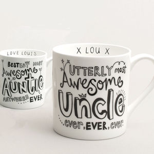 Personalised Auntie Or Uncle Mug