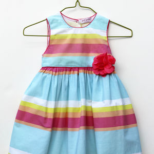 Girl's Stripe Cotton Dress - clothing