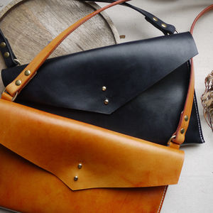 Leather Cross Body Envelope Bag - womens