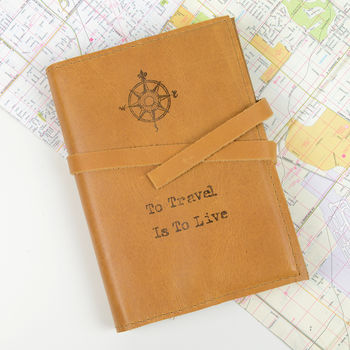 Compass 'To Travel Is To Live' Journal
