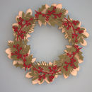 Holly And Leaf Christmas Wreath