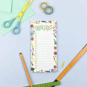 Groceries Magnetic List Notepad - kitchen accessories