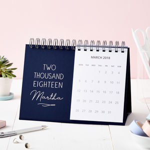 Personalised Classic 2018 Desk Calendar - 2018 calendars & planners