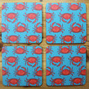 Turquoise Crab Drinks Coaster Set