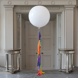 Rainbow Tassel Tail Giant Balloon - rainbows