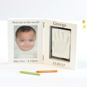 Personalised Baby Imprint Kit And Photo Frame - gifts for babies & children