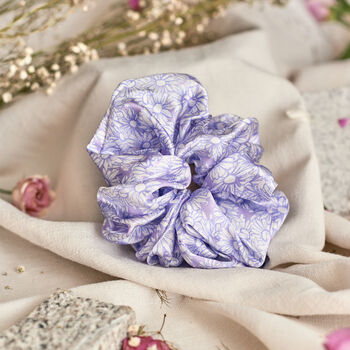 Silk Scrunchie 'Drawn Like A Daisy'