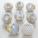 Royal Gold Ceramic Door Knobs Cupboard Door Handles