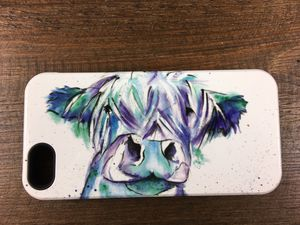 Blue Moo, Watercolour Phone Case - phone covers & cases