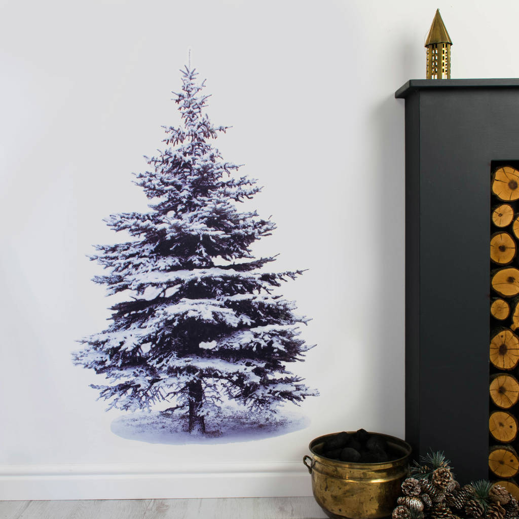 Wonderful Christmas Tree Wall Sticker With Lights