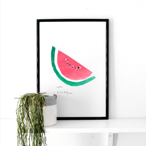 Watermelon Illustrated Art Print
