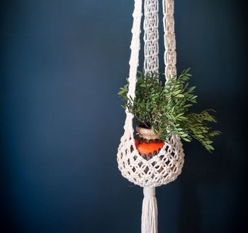 Macrame Plant Hanger Basket Bottom