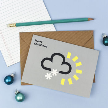 Weather Snow Symbol Christmas Card