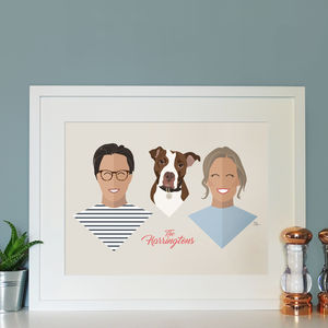 Personalised Family Portrait Print