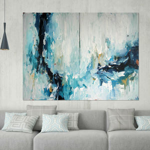 Epiphany Three Large Abstract Painting Diptych - paintings