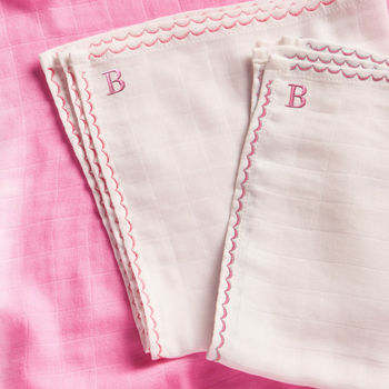 Personalised Pink Mini Muslin Comforters