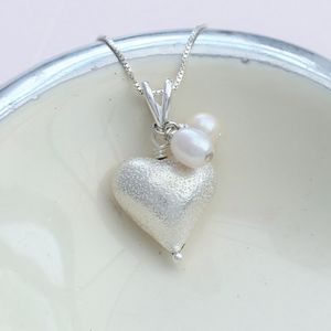 Rosaline Silver Heart Necklace - necklaces & pendants