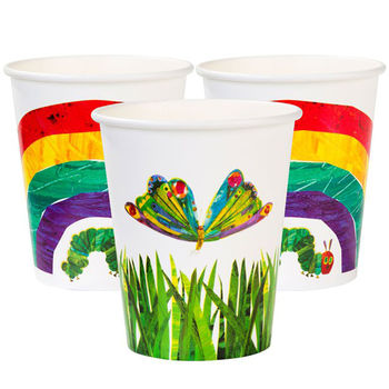 Pack Of 12 Hungry Caterpillar Paper Party Cups