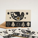 Dove Christmas Card Bundle Block Printed By Hand