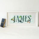 Personalised Jungle Kids Name Plaque