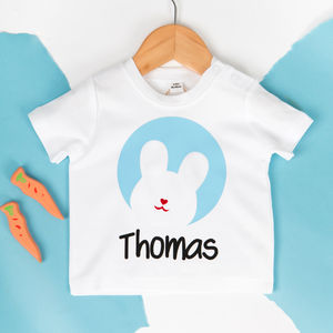 Personalised Flock Bunny Baby T Shirt