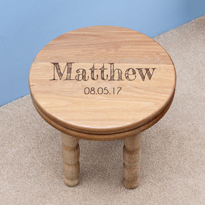 Personalised Boy's Wooden Stool - new in home