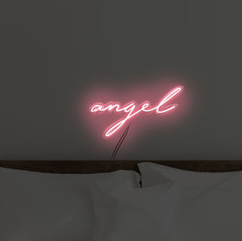 'Angel' Handmade Neon Sign Wall Art