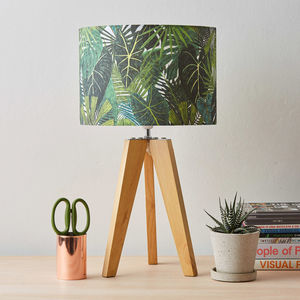 Botanical Plant Print Lampshade - bedroom