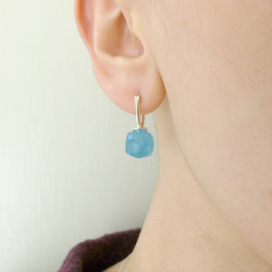 Blue Quartz Drop Earrings - earrings