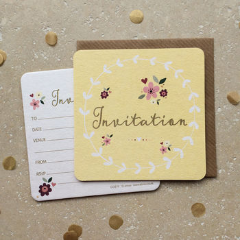Invitation Coasters Invites