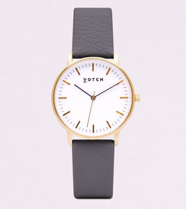 New Collection Gold Vegan Leather Watch - men's accessories