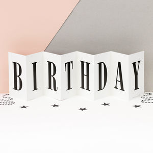 Birthday Card Personalised Concertina Card