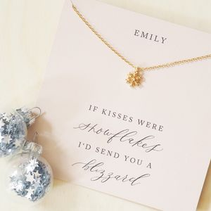 Personalised Snowflake Card And Necklace - gifts for her