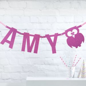 Super Sparkly Letter Glitter Bunting - children's room