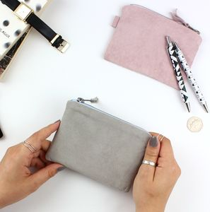 Small Suede Pouch - make-up & wash bags