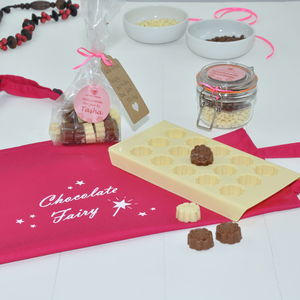 Dad And Daughter! Make Personalised Chocolates For Mum - make your own kits
