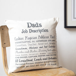 Dad Poem Cushion Cover - gifts for the home