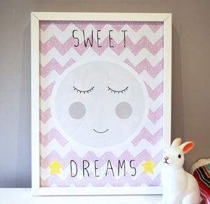 Moon Nursery Print - children's pictures & paintings
