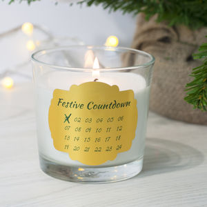 Festive Countdown Candle - candles & candle holders