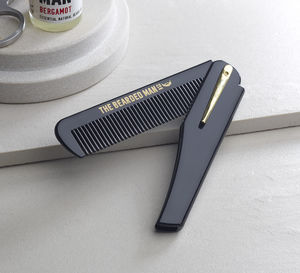 002 – The Bearded Man Company Gents Folding Beard Comb - gifts by category